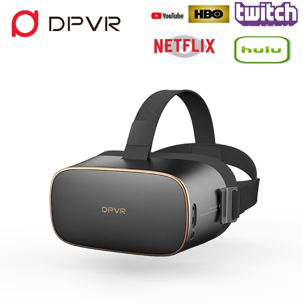 DPVR P1 VR Lunettes Tout en Un Casque de Réalité Virtuelle Lunettes Stéréo IMAX Personal Cinema avec Android 7.1 Wifi 2.5 K HD Écran