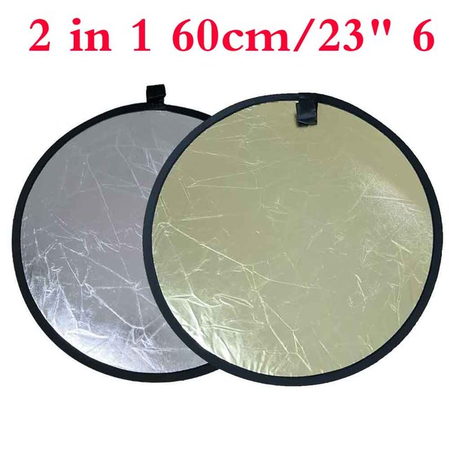 "Portable Professional 2 in 1 60CM/23"" 6 Inch Refletor Photography Accessories For Photo Studio Light Disc"