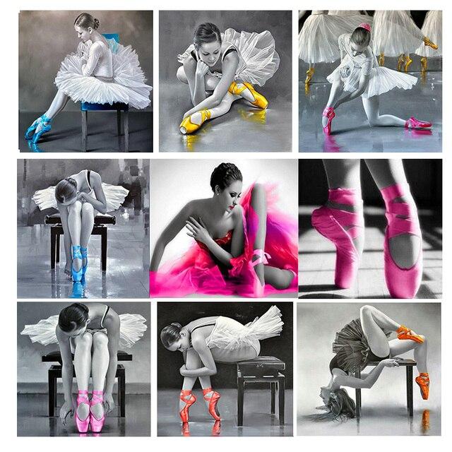 3D, полный бриллиант живопись, Балетные костюмы балерина, Алмазный Вышивка, вышивка крестом, мозаика, серии домашний декор, подарок ручной работы rd2020