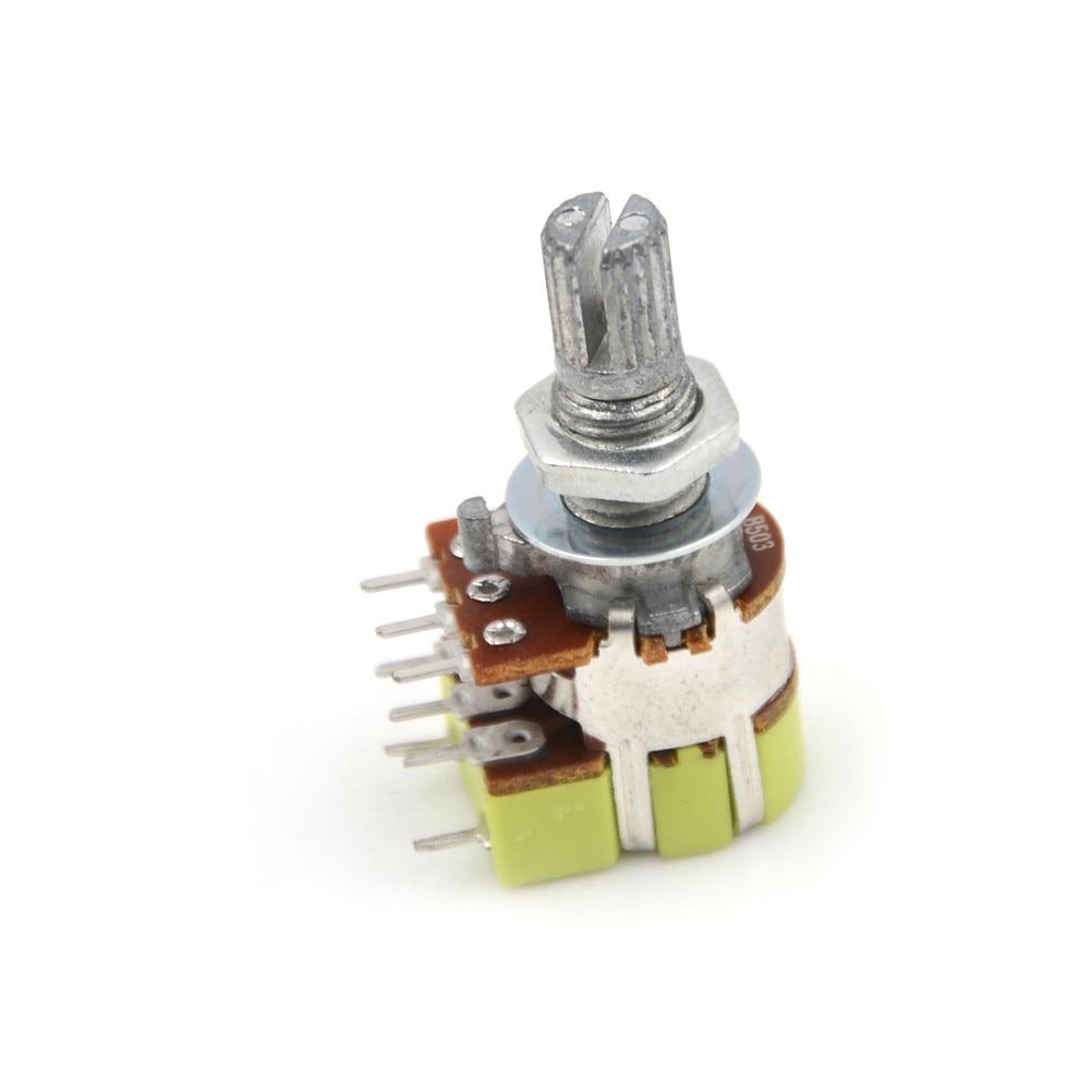 1 шт. B50K 50K Ом Двойной линейный конус регулятор громкости потенциометр переключатель