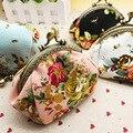 DreamShining Vintage Monedero de Las Mujeres Moda Diseño de La Flor de la Señora Monedero Lienzo Paquete de Dinero de la Moneda Del Cerrojo Carpeta Dominante