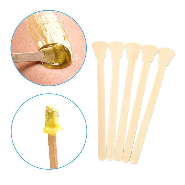 1 セット/50 ピース木製ワックスがけワックスべら舌圧子使い捨て竹スティックキットスキン美容ツール