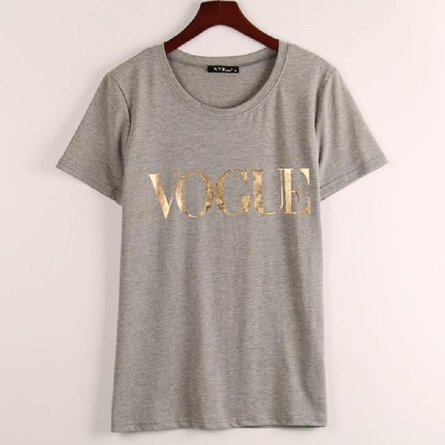 VOGUE Printed T-shirt Women Tops Tee Shirt  3