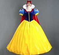 Sıcak Parti Cadılar Bayramı Kostüm Kar Beyaz Prenses Cosplay Kostüm Anime Kraliçe Kostüm şapkalar + elbise + Baza + yelek PS14034