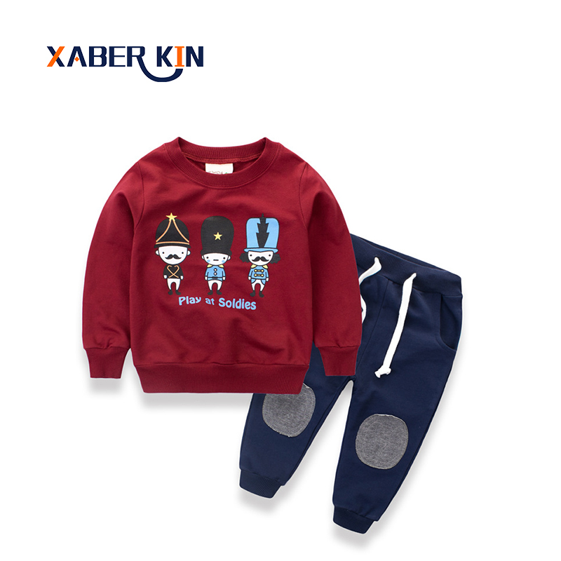 Xaber Kin 2017 Boys Clothing Set 2-10 Years Children Clothing For Boys Suit Set Soft 100% Cotton Kids Clothes Sport Suit For Boy happy kin набор фигурок лошади
