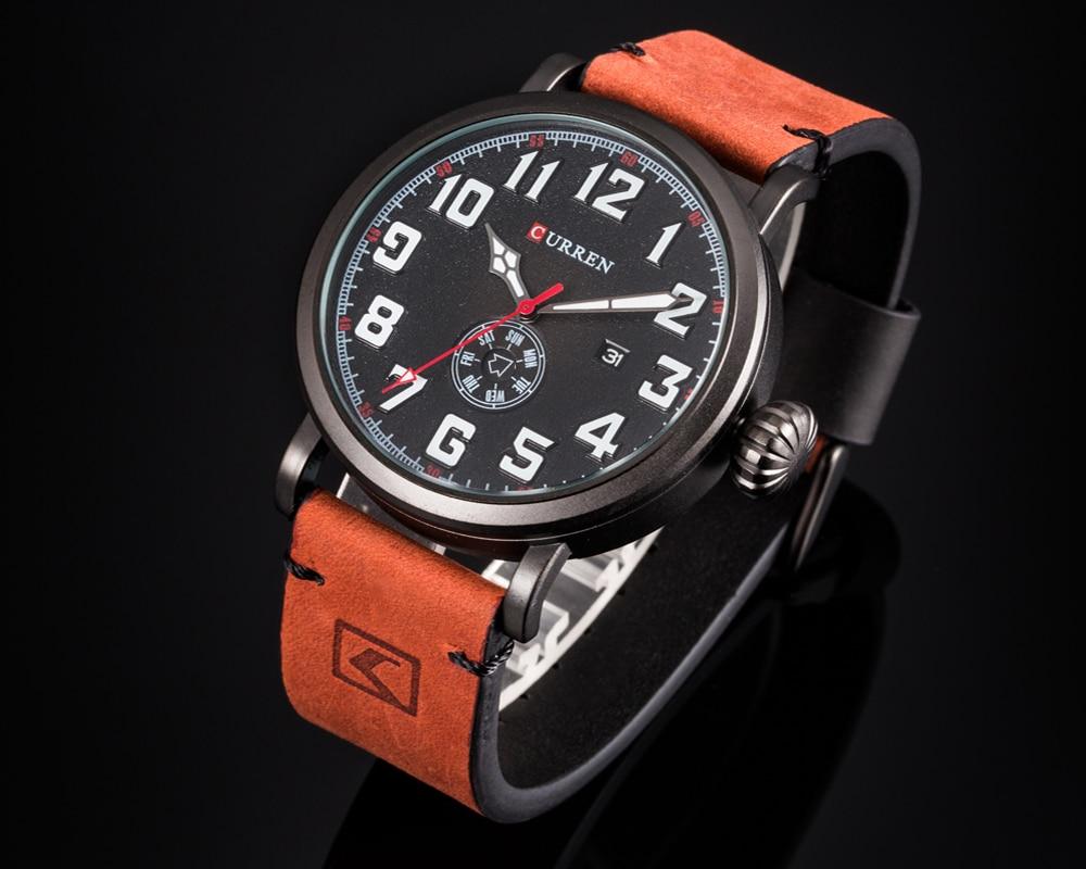 HTB1i7iKf9tYBeNjSspaq6yOOFXaG Men Watch Brand CURREN Fashion Big Digital Dial Male Wristwatch Casual Calendar Quartz Leather Clock Montre Homme Reloj Hombre