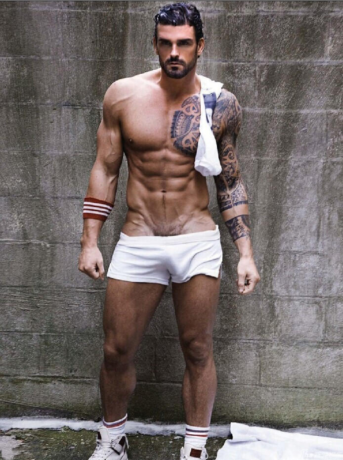Sexy Men Underwear Diy Erlook  Male Fashion Casual Fitness  Shorts 100% Placketing Cotton White Shorts