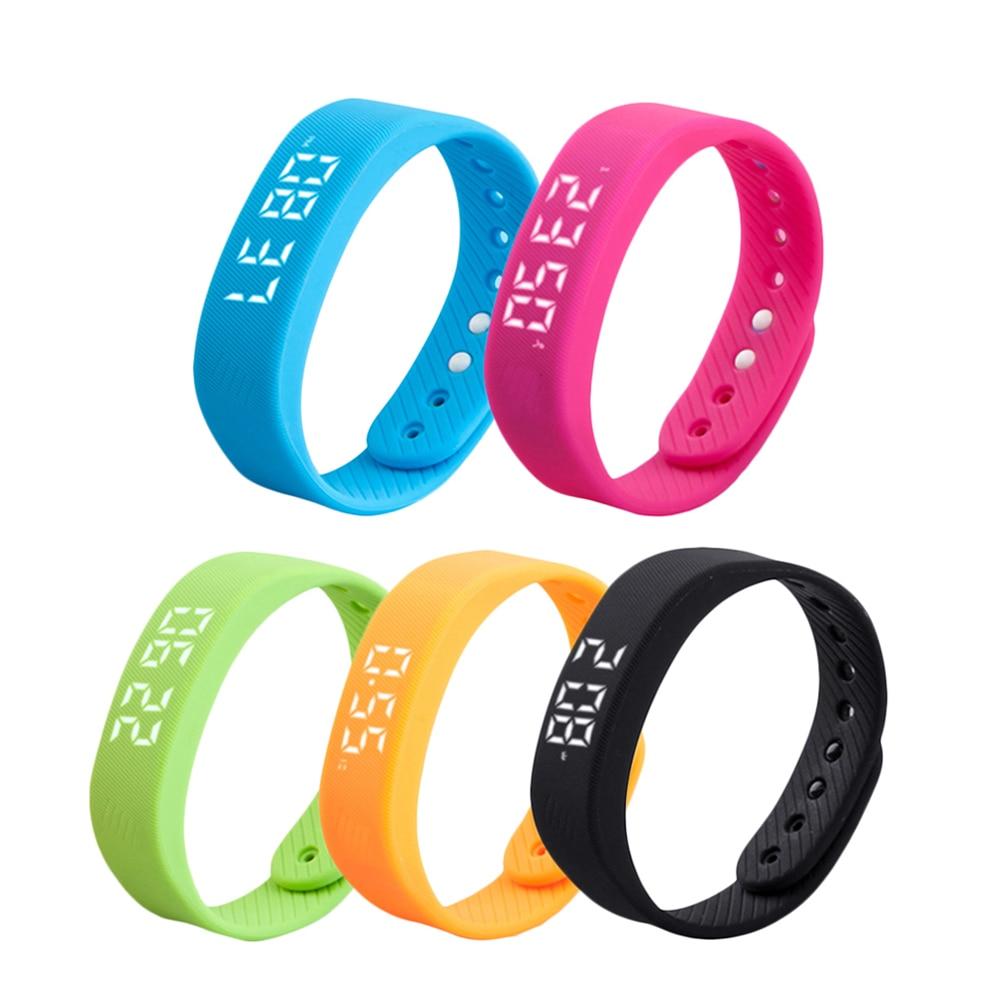 5 Colors Sport Pedometer Watch Smart Bracelet Waterproof Run Step Tracker Ultra-long Standby Pedometer Smart Fitness Bracelet