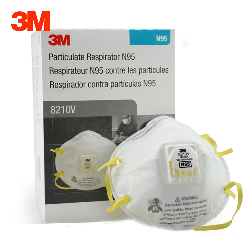 Particles 3m Particulate Anti Safety box 10 Industrial Respirator 8210v Pcs Dust Masks Dustproof Mask Anti-pm2 Breathing 5 N95