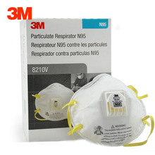 10 pcs/box 3M 8210V Dust Mask N95 Particulate Respirator Anti-PM2.5 Industrial Dustproof Anti Particles Safety Breathing Masks брюки vladi collection vladi collection mp002xw1gtwx