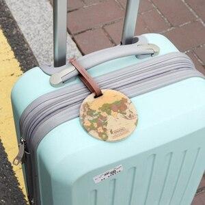 إكسسوارات السفر الأمتعة الوسم الإبداعية عارضة الخريطة هلام السيليكا حقيبة عنوان Id حامل الأمتعة الصعود Tag المحمولة التسمية