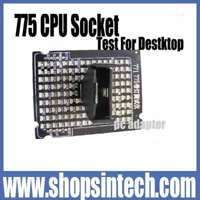 Free post shipping 100% new 1pc/box 775 CPU Socket tester card  for desktop