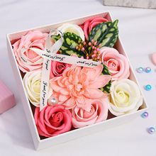 Artificial Flower Rose Soap Flower Heads Gift Box For Birthday Mother's Day Valentine's Day Gift Party Wedding Decoration rose soap flower wedding decoration romantic valentine s day birthday gift decoration best for lovers