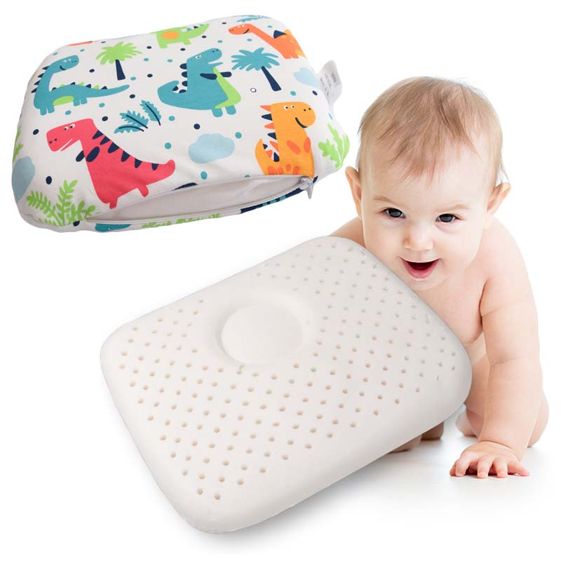 Baby Natural Latex Pillow Velvet Sleeping Bedding Cervical Pillows Thailand Natural Latex Orthopedic Massage Shaping Baby Pillow