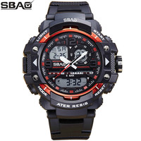 New Fashion SBAO Brand Children Sports Watches LED Digital Quartz Military Watch Boy Girl Student Multifunctional