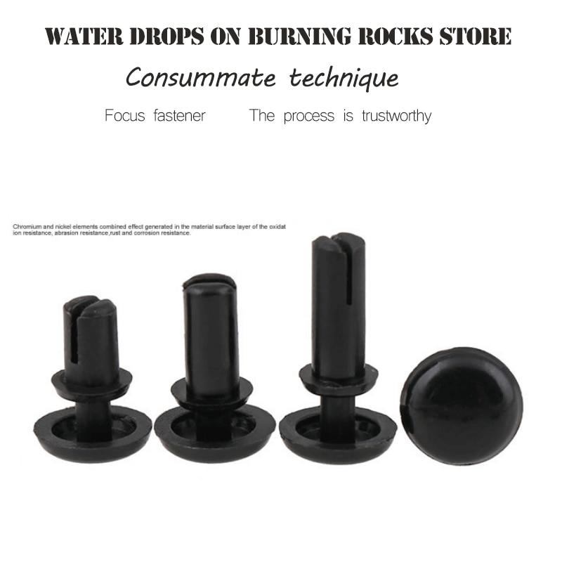 100pcs R3055 Diameter Hole White Black Nylon Plastic Insulating Fastener Retainer Cover PC Board Clip R Type Push Rivet ...