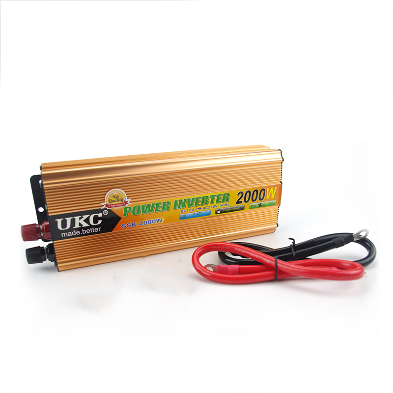 Vehicle 2000W Car Power Inverter Converter DC 12V to AC 220V USB Adapter Portable Voltage Transformer Car Chargers 220v to 12v car power car inverter converter transformer car turn home 60w96w120w
