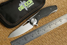 Green thorn Dark Flipper folding knife bearing S35vn or D2 blade Titanium handle outdoors camping hunting pocket knife EDC tools