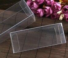 """4x4x8 ס""""מ פלסטיק PVC ברור סחורות טלפון קופסות תחתוני תה פירות אחסון מקרה תיבה"""