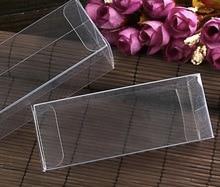 Прозрачные пластиковые коробки из ПВХ для телефона, 4x4x8 см, чехол для хранения чая и фруктов