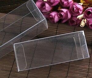Image 1 - 4x4x8cm  Plastic PVC Clear Commodity Phone Boxes Underwear Tea Fruit Storage Case Box
