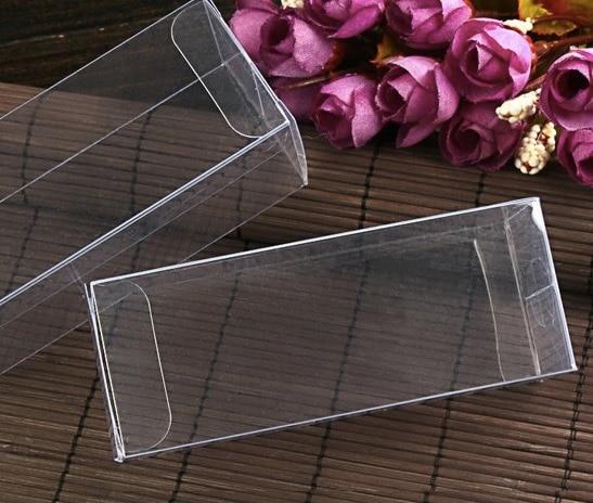 4x4x8cm  Plastic PVC Clear Commodity Phone Boxes Underwear Tea Fruit Storage Case Box