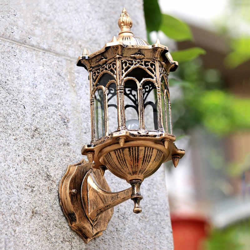 Lâmpada de parede e27 retrô, à prova d' água, antiferrugem, para jardim, varal, para corredor, vila, sutiã, luzes residenciais, varanda