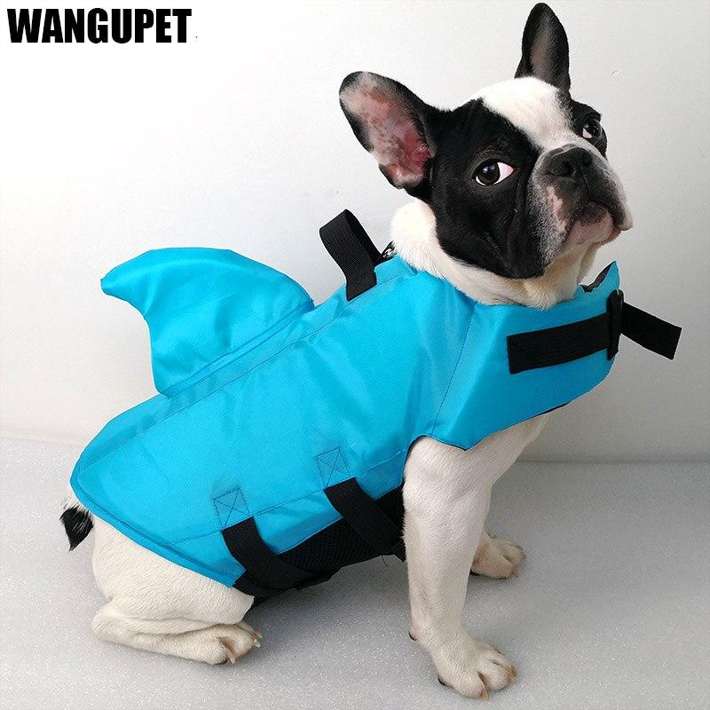 Shark Dog Life Jacke Sicherheit Kleidung Pet Leben Weste Sommer Hund Schwimmen Kleidung Französisch Bulldog Fin Jacke Spielen in die meer