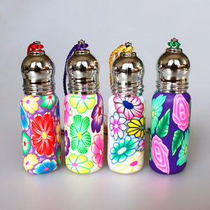 Image 5 - 20pcs 50pcs 6ml Roll On Perfume Bottles Polymer Clay Glass Bottle Refillable Essential Oil Vials with Metal Roller Ball