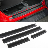 Suitable for Jeep Wrangler 2007 2016 ABS Scuff Plate Door Sill Cover Sticker Car Accessories