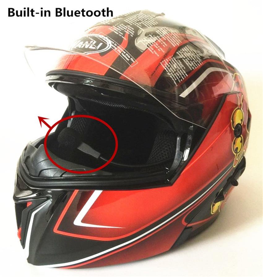 Motorcycle Bluetooth Helmets Flip up Dual Visors Full Face Helmet Built-in Integrated Intercom Communication System Matte B m b fenton communication in chiroptera
