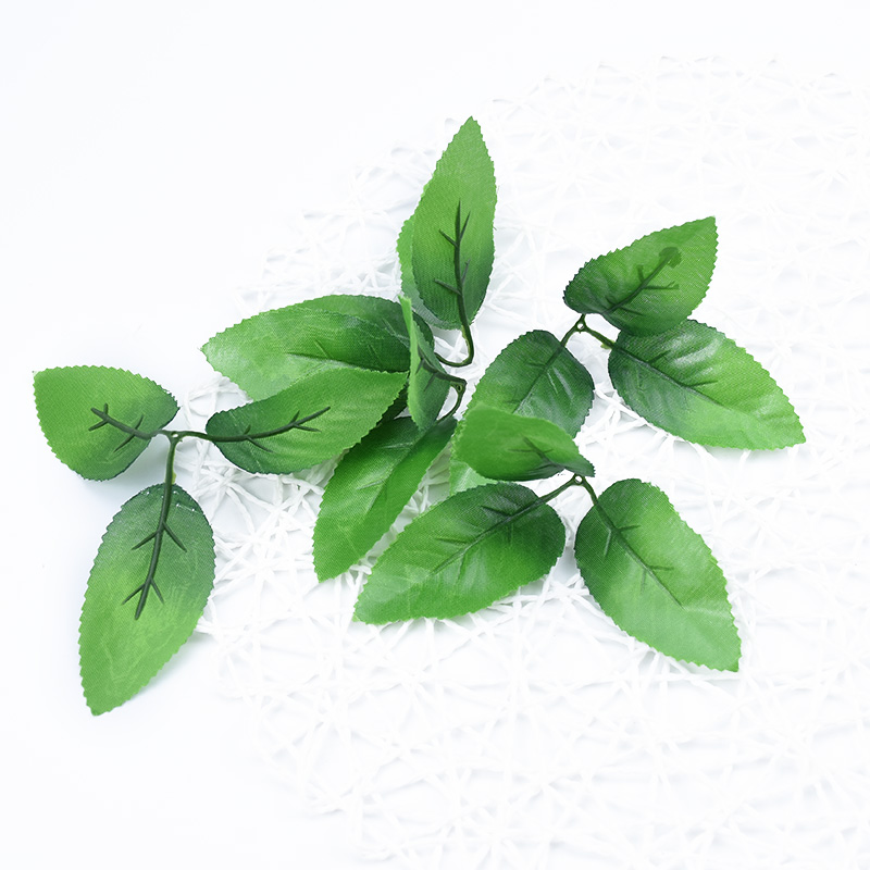 Silk Roses Green Leaf Christmas Decor For Home Wedding Diy Fake Flowers For Scrapbooking Artificial Plants Leaves Bride Brooch