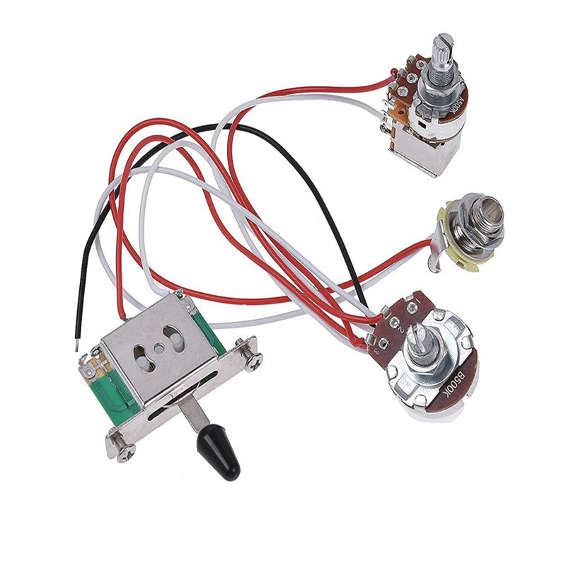 compare prices on guitar jack wiring online shopping buy low electric guitar wiring harness prewired kit 3 way toggle switch 1 volume 1 tone 500k pots