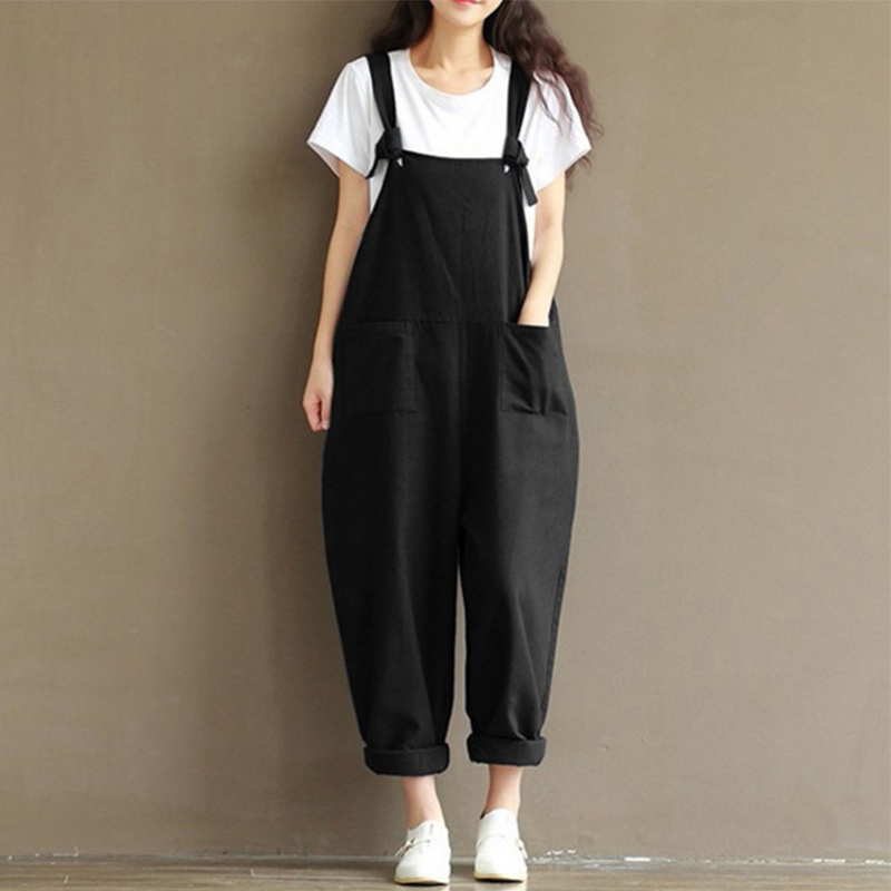 pantalon femme 2019 summer linen pants fluid casual bib. Black Bedroom Furniture Sets. Home Design Ideas