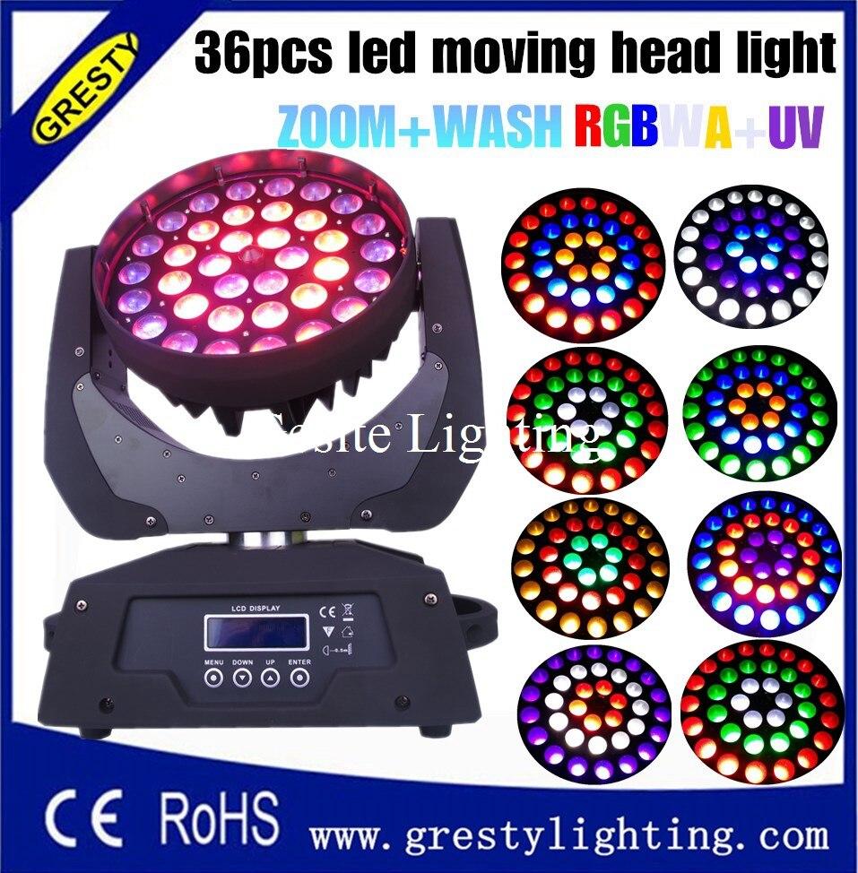 2 հատ / լամպ DMX 512 36 * 18W RGBWAUV 6 IN1 LED - Կոմերցիոն լուսավորություն - Լուսանկար 3