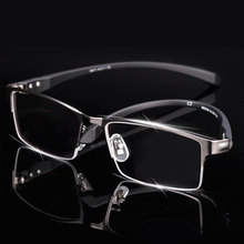 Men Titanium Alloy Eyeglasses Frame for Men Eyewear Flexible Temples Legs IP Electroplating Alloy Material,Full Rim and Half Rim