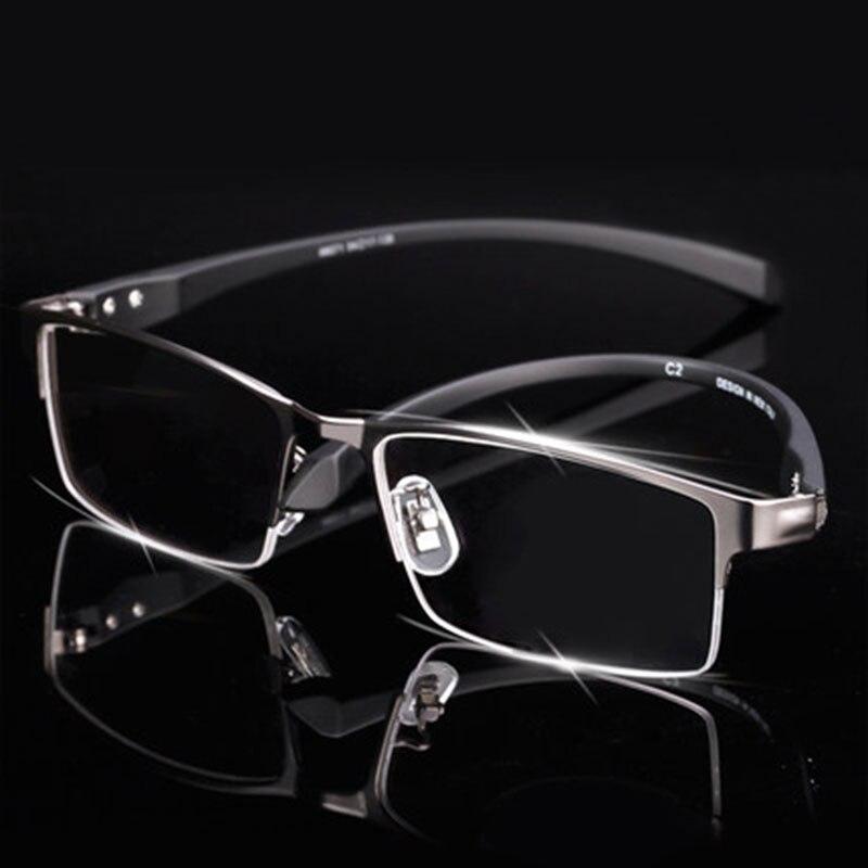 Montura de gafas de aleación de titanio para hombre gafas patillas flexibles piernas IP Material de aleación de galvanoplastia, borde completo y medio borde