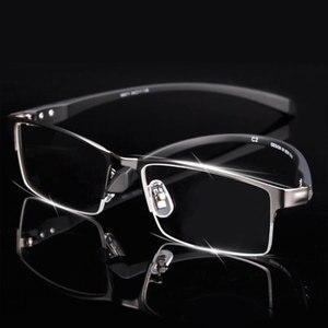 Image 1 - 男性チタン合金眼鏡フレーム男性眼鏡柔軟な寺院脚 ip 電気めっき合金材料、フルリムとハーフリム