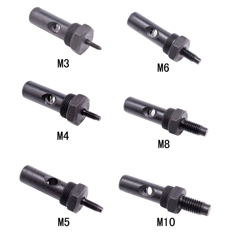 цена на Rivet nut Head Pull riveting nut gun head spare part cap gun manual gun nut screw rod supporting accessories M3 M4 M5 M6 M8 M10