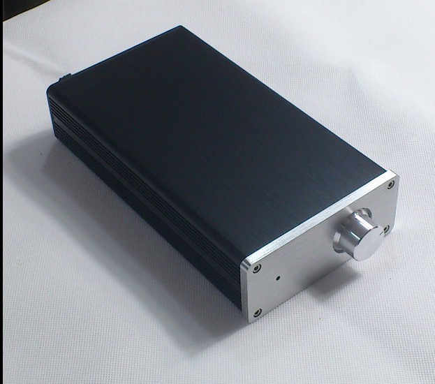 1105 mini aluminium versterker chassis Voorversterker case Power Box AMP Behuizing/case/DIY doos (114*50*210mm)