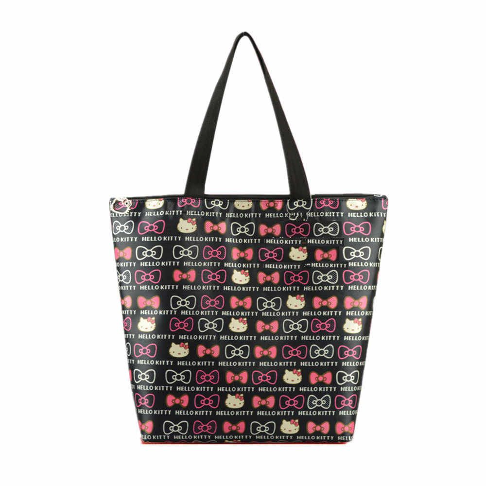 13f93eaf5e Cute Hello Kitty Handy Shopping Bag Reusable Women s ECO Grocery Bags  Durable Multifunction HandBag Tote Travel