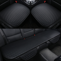3Pcs Set Pu Leather Car Seat Cushion Cover Four Seasons General Car Seat Cushions Car Front