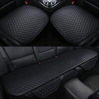 3Pcs Set Pu Leather Car Seat Cushion Cover Four Seasons General Car Seat Cushions Car Front