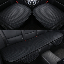 3Pcs/set Pu Leather Car Seat Cushion Cover Four Seasons General Cushions Front Back Covers Fit All Sedan S/M/L