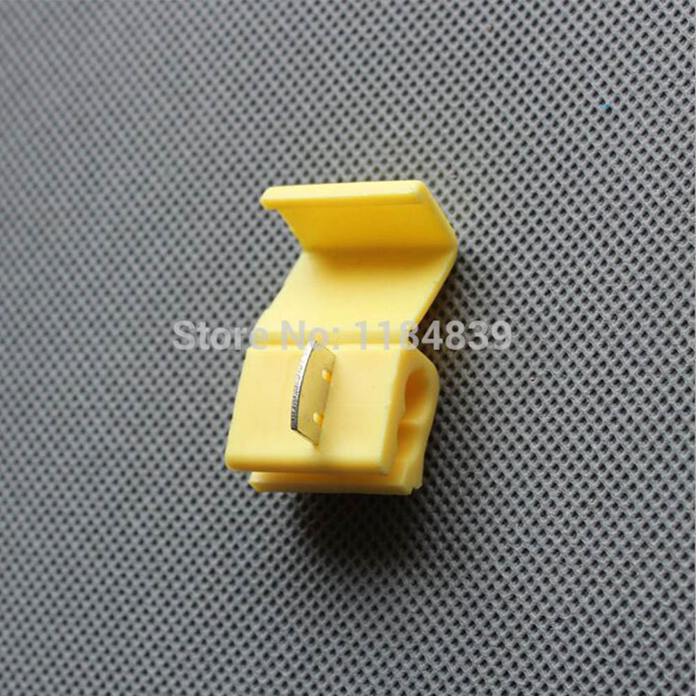 10Pcs Yellow Scotch Lock Fast Splice Crimp Terminal 12-10 Awg Wire Connector For 4-6 Wire Free Delivery Russia