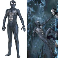New Venom Edward Brock Cosplay Costume Zentai Spider Man Superhero Pattern Bodysuit Suit Jumpsuits