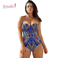 2016 Sexy 3D Print Beachwear Push Up Monokini Swimsuit High Cut One Piece Swimsuit Women Swimwear