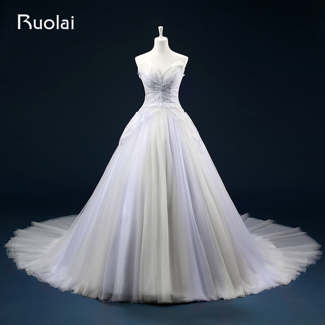 Ball Gown Sweetheart Tulle Wedding Dress Rouching