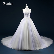 Real Princess Ball Gown Sweetheart Tulle Beaded Bodice Ruched Wedding Dress Long Bridal Wedding Gown Vestido De Noiva ASAFN28