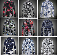 2017 Mens Fashion Printing Shirts M To 5XL Size Two Colors